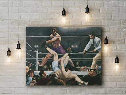 George Bellows: Dempsey v Firpo. Fine Art Canvas.